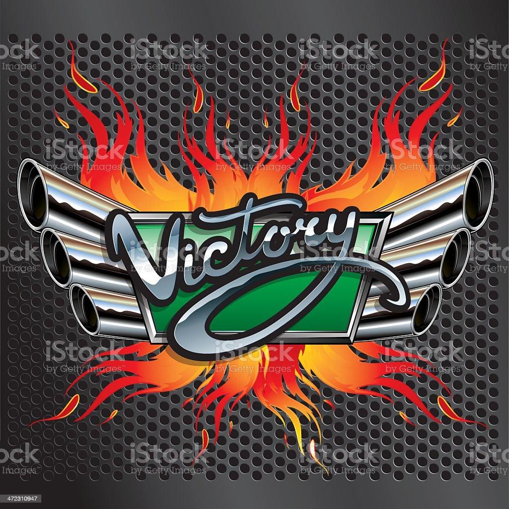 Racing Victory Emblem royalty-free stock vector art