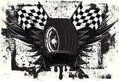 racing wings insignia