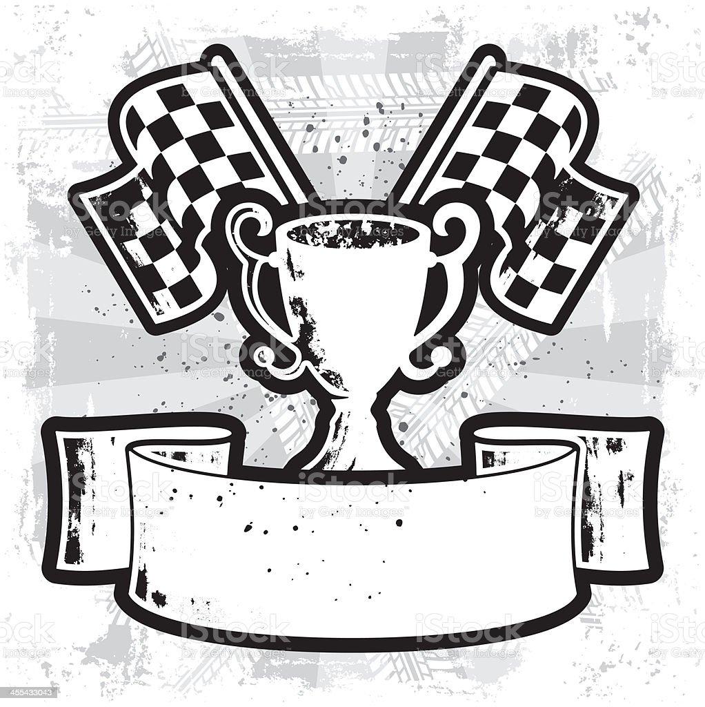 Racing Winner Banner vector art illustration