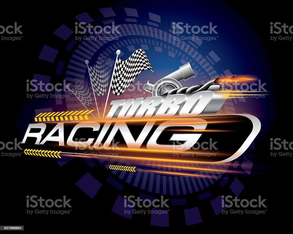 Racing mit kariertem Flags-Konzept-Vektorgrafik – Vektorgrafik