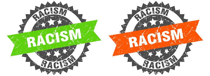 racism band sign. racism grunge stamp set