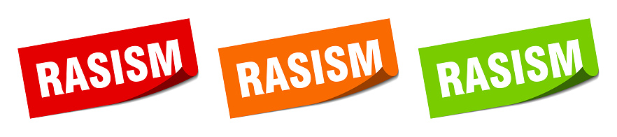 racism stings. racism square isolated sign. racism label