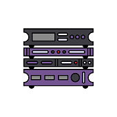 Rack, stereo, music icon. Element of color music studio equipment icon. Premium quality graphic design icon. Signs and symbols collection icon