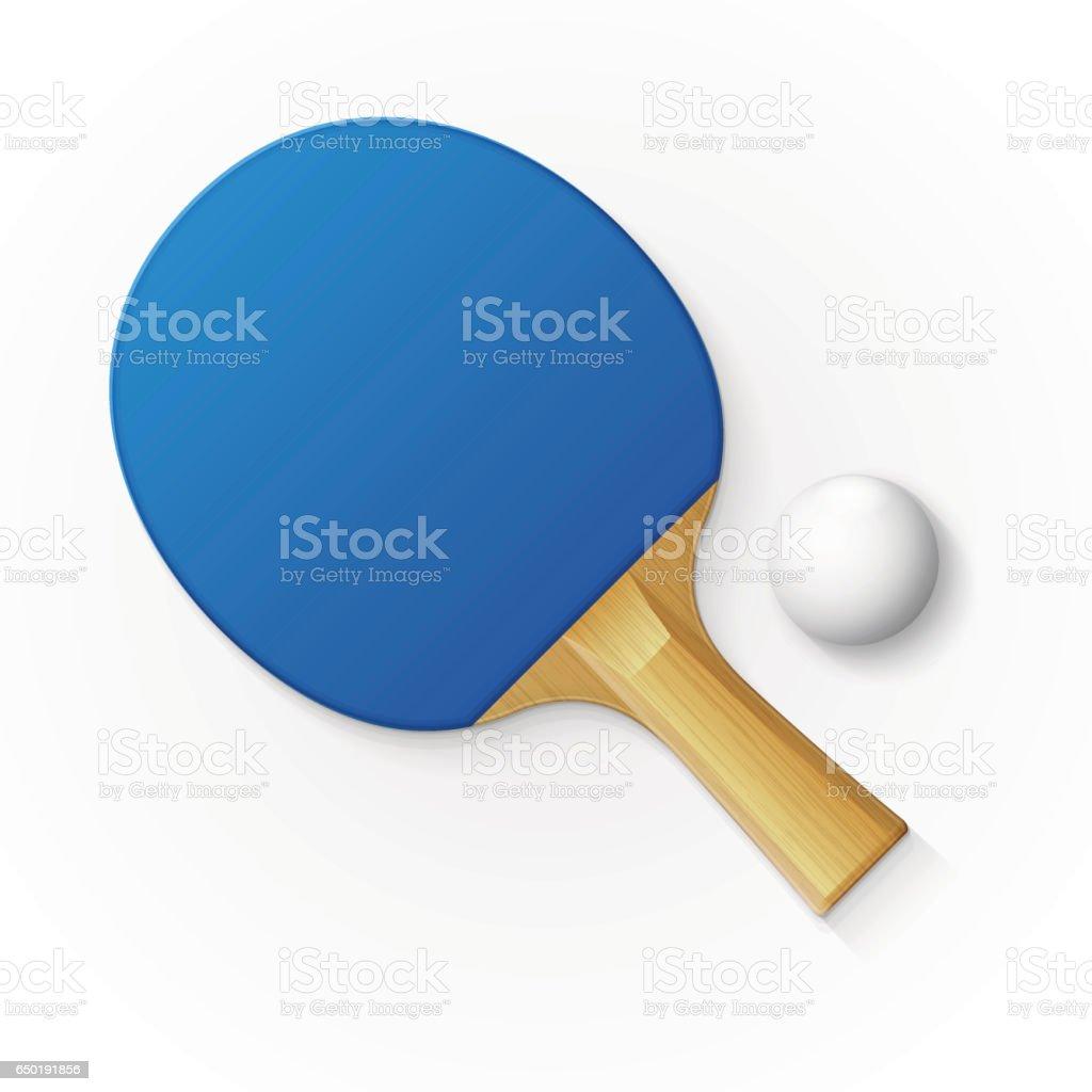 4c003e818 Raquete e bola para jogar ténis de mesa. vetor de raquete e bola para jogar