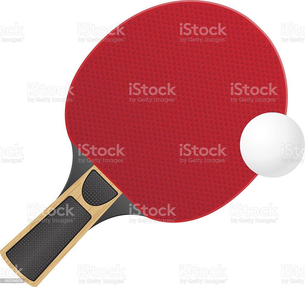 146eb2e7d Raquete e Bola de Ténis de mesa de ping-pong Ilustração vetorial raquete e  bola