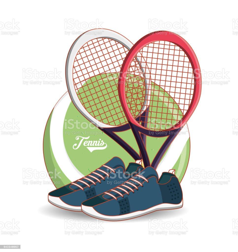 Stock Art Und Tennissport Schläger Schuhe und Vektor Treiben 5AcRqL3j4