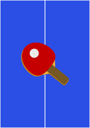 Racket for playing table tennis vector image.