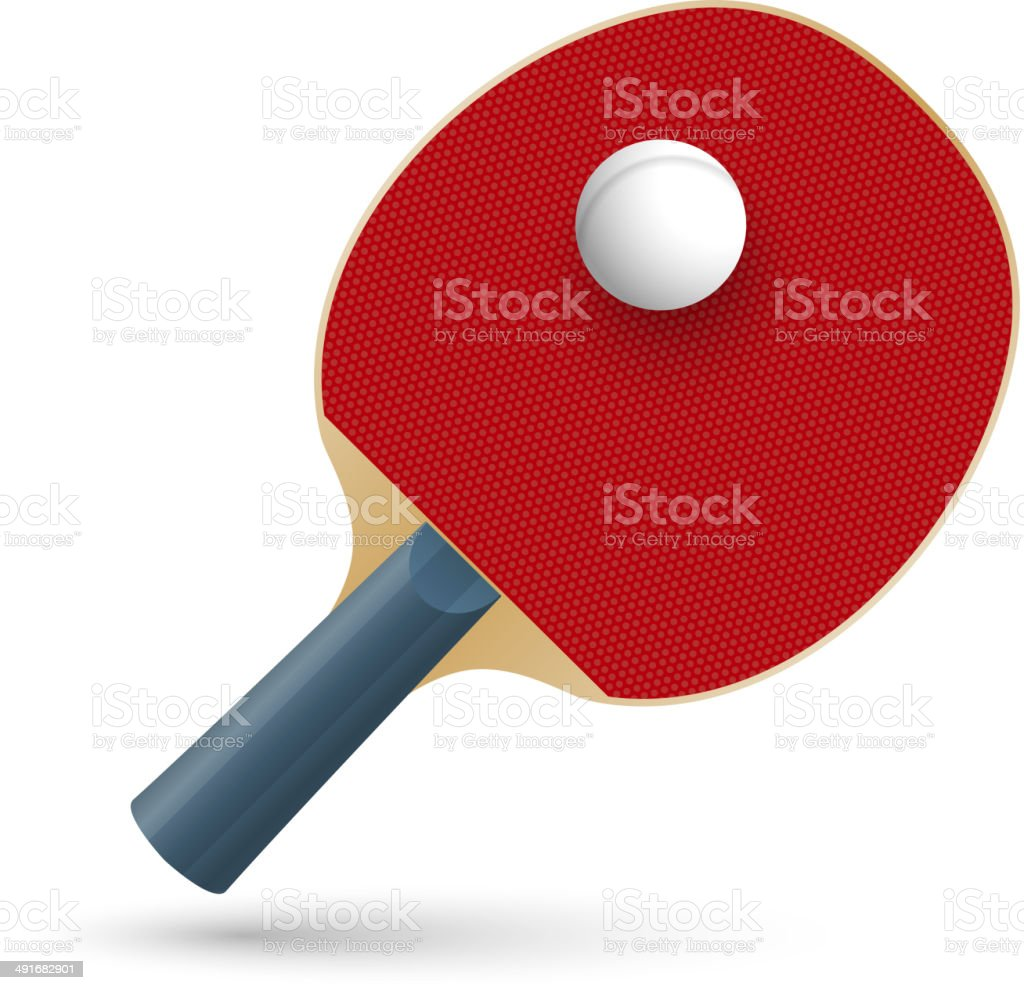 Racket for playing table tennis. Vector royalty-free stock vector art