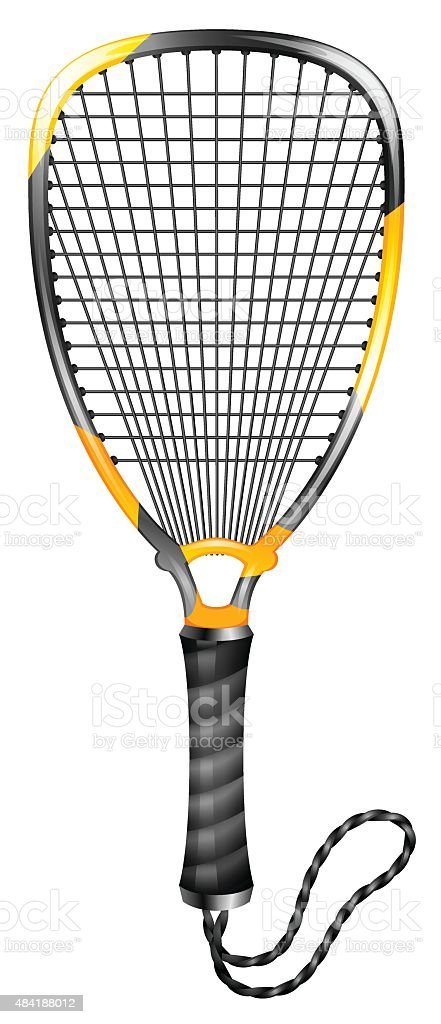 Racketball vector art illustration