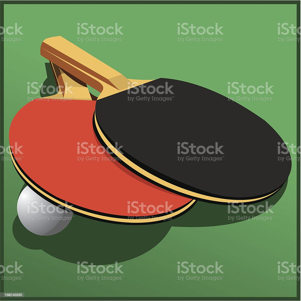Rackets for table tennis royalty-free stock vector art
