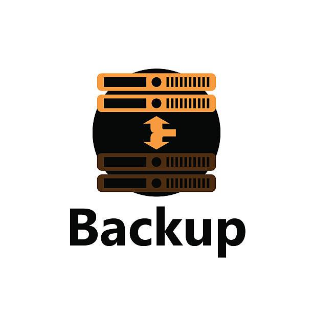 Rackmount backup icon vector art illustration