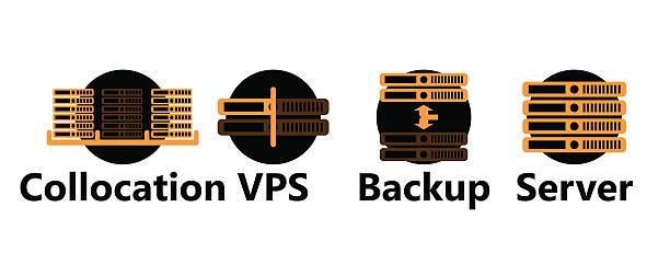Rackmount Technologic icons set vector art illustration