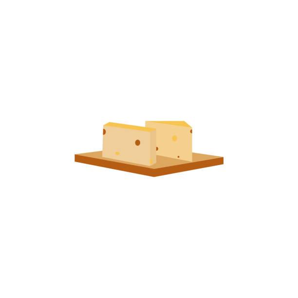 raclette käse farbige ikone. zeichen und symbole können für web, logo, mobile app, ui, ux verwendet werden - raclette stock-grafiken, -clipart, -cartoons und -symbole