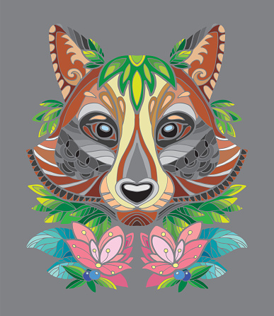 Racoon illustration vector