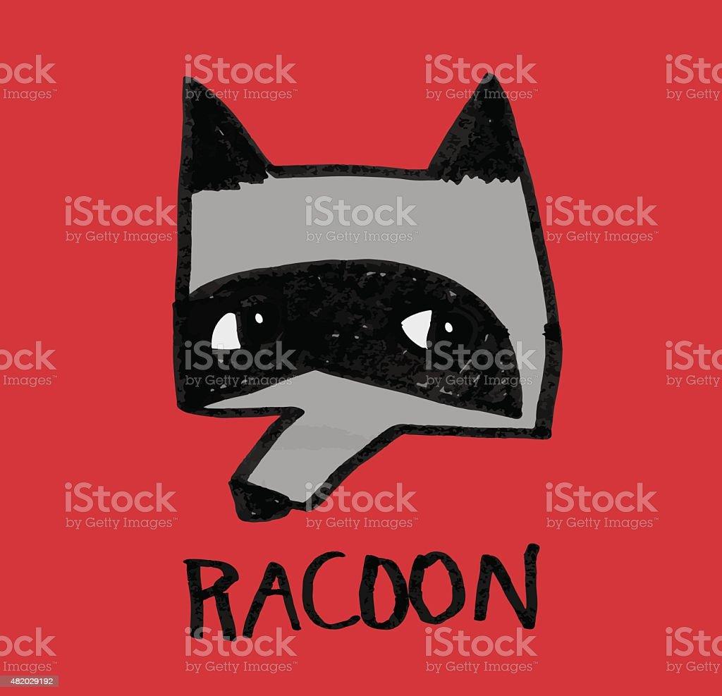 Racoon vector art illustration