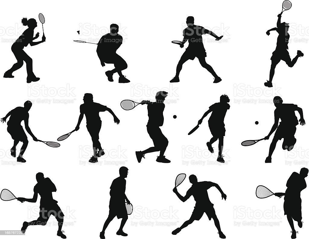 Racquet Sports vector art illustration