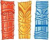 red yellow and blue tiki