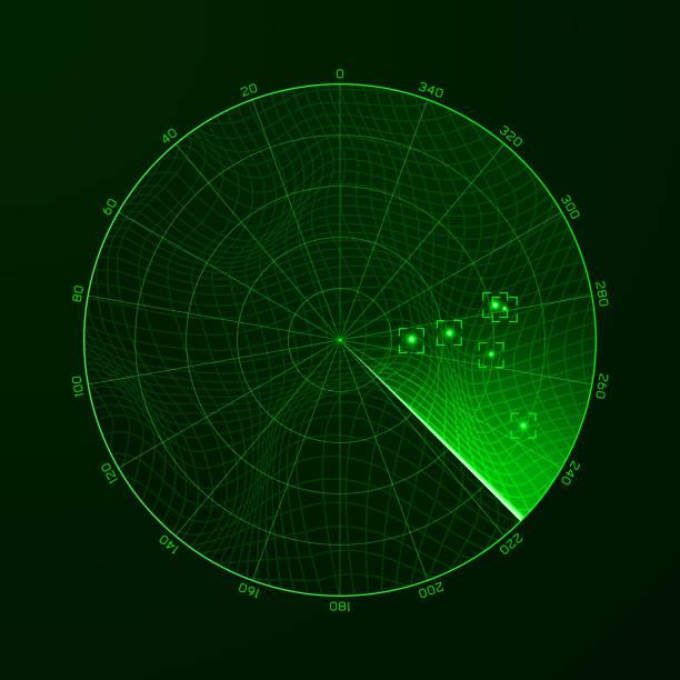 radar. blip. vector illustration - radar stock illustrations