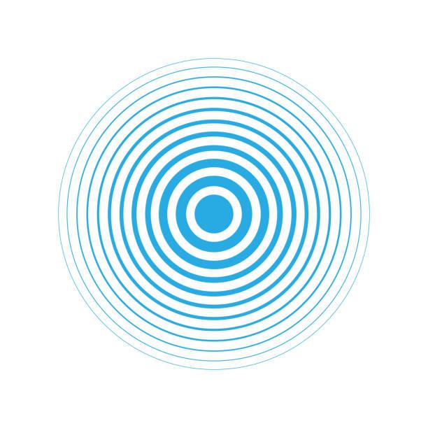 Radar icon blue color simple design vector art illustration