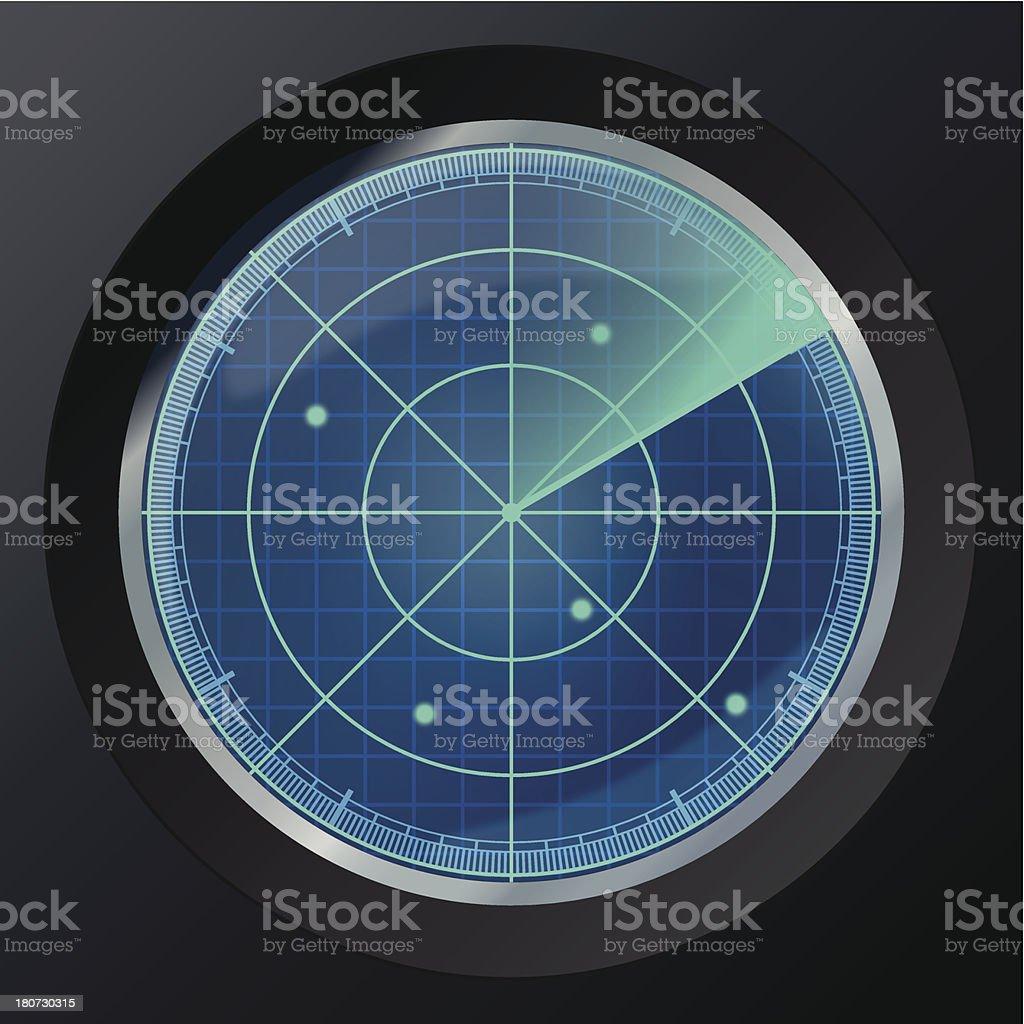 Radar icon royalty-free stock vector art