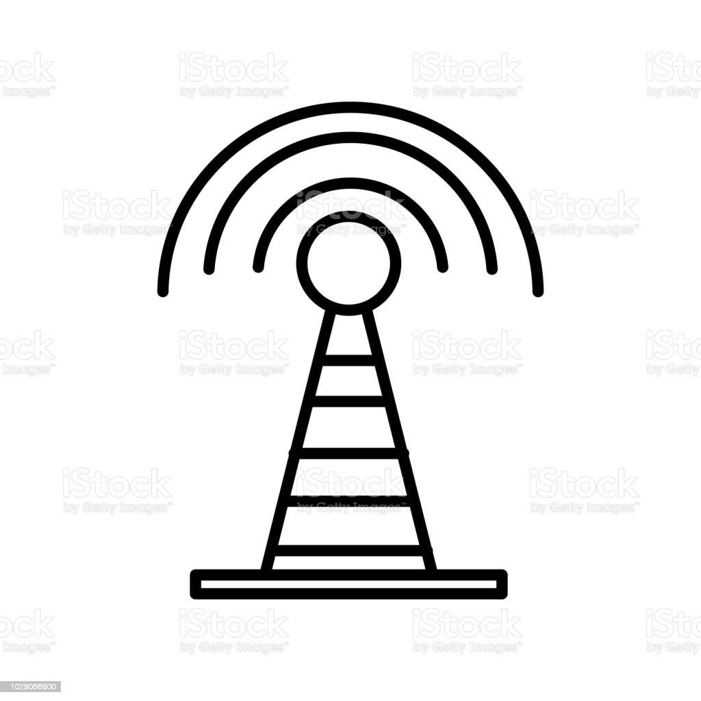 Radarsymbol Vektor Isolierten Auf Weißen Hintergrund Radar Zeichen