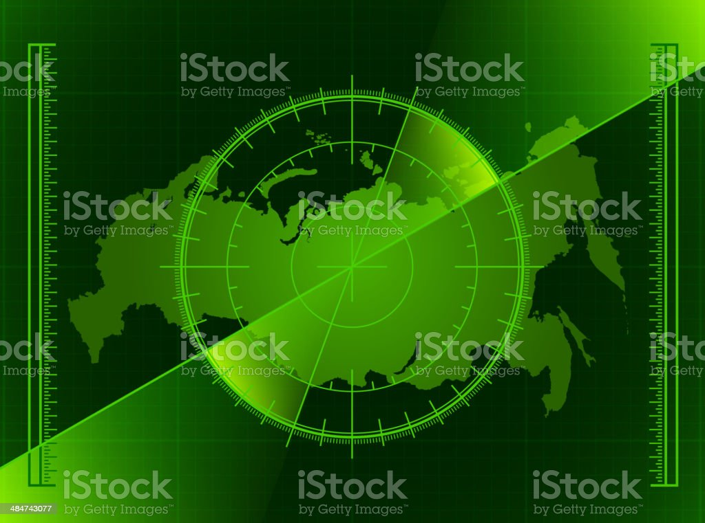 A radar map featuring the country of Russia. royalty-free a radar map featuring the country of russia stock vector art & more images of activity
