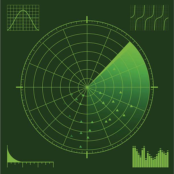 radar or sonar scope - radar stock illustrations