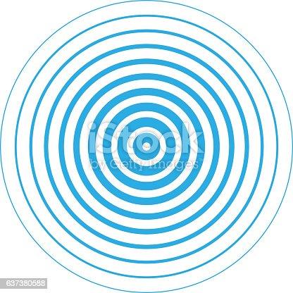 istock Radar screen concentric circle elements. 637380588