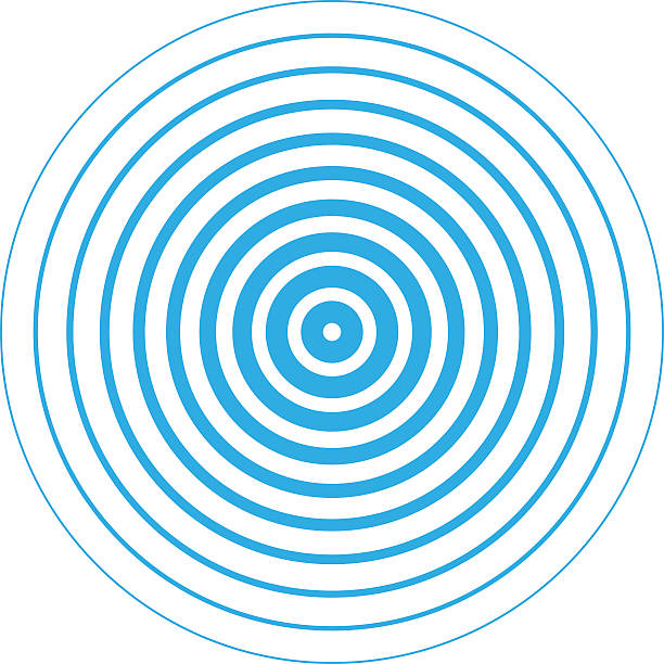 radar screen concentric circle elements. - tap water stock illustrations