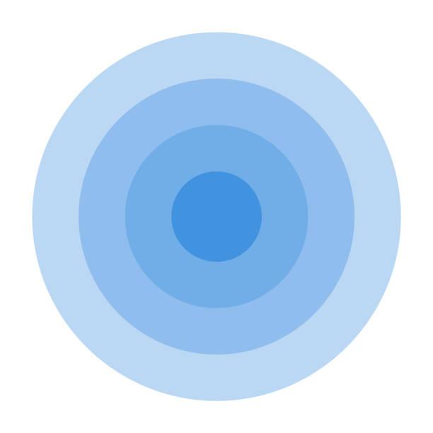 radar screen concentric circle. - концентрический stock illustrations