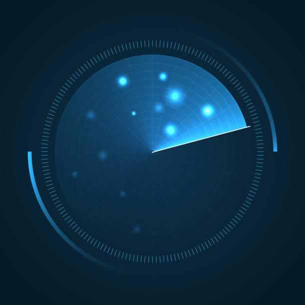 radar screen. sonar search. - radar stock illustrations