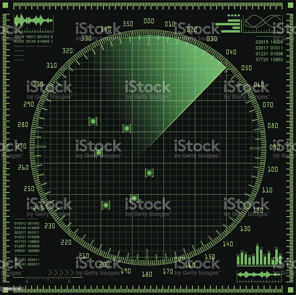 Radar screen royalty-free radar screen stock illustration - download image now