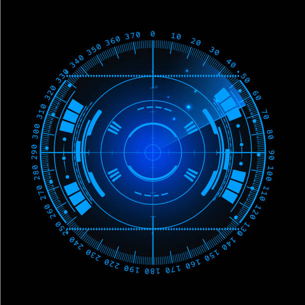 radar screen. vector illustration for your design. technology background. futuristic user interface.  display with scanning. hud.  eps - глаз человека stock illustrations