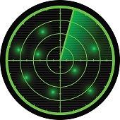 Radar vector illustration.