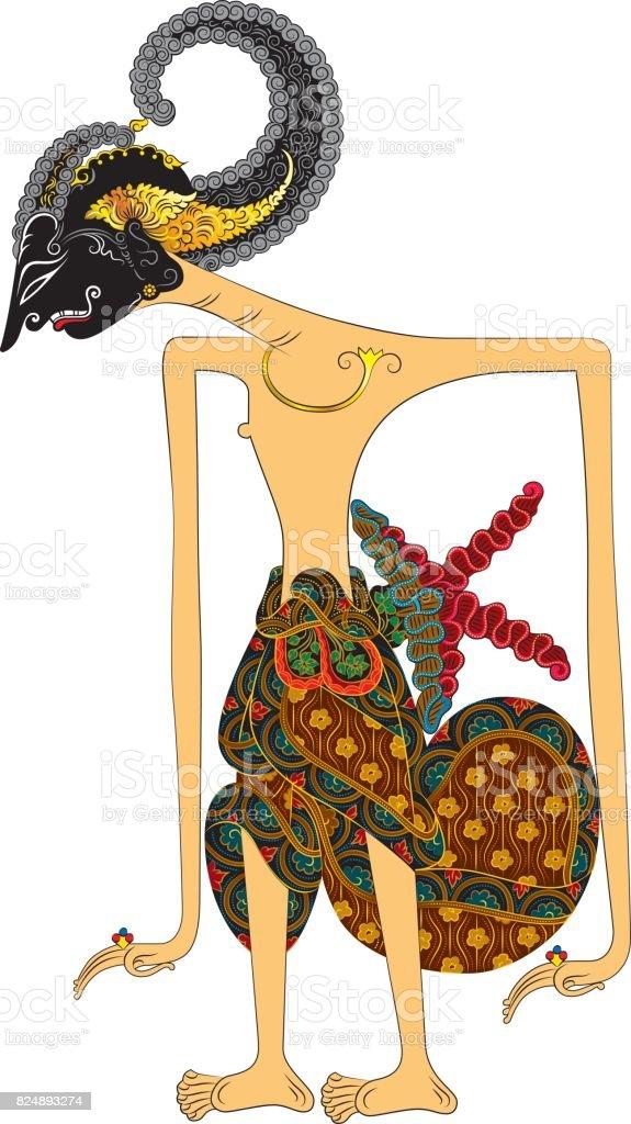 Raden Arjuna vector art illustration