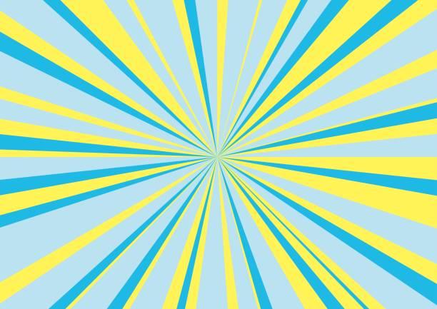 放射状の光背景 ベクターアートイラスト