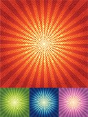 1 Credit Only! Vector Illustration - Radial Rhombus Background in four color set