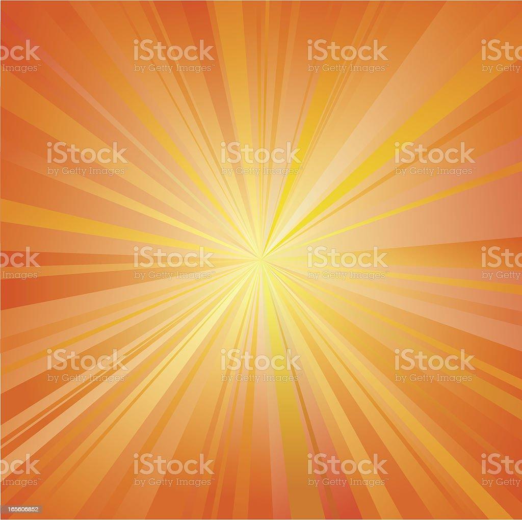 Radial Sunburst Background royalty-free stock vector art