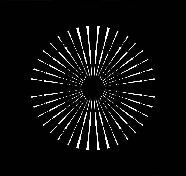illustrazioni stock, clip art, cartoni animati e icone di tendenza di simmetrica radiale scatto elemento di progettazione - motivo concentrico