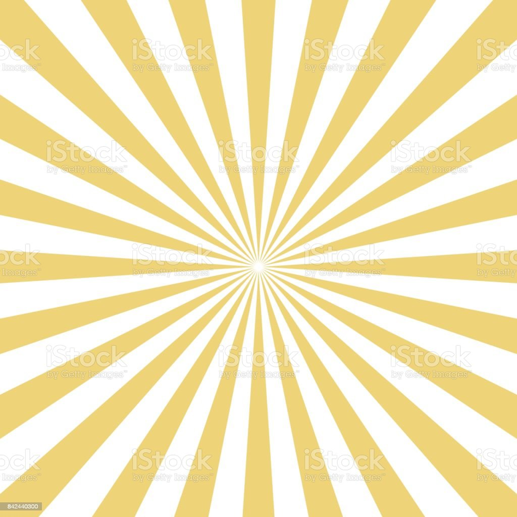 Radial yellow sun burst beams on white background. Vector . vector art illustration