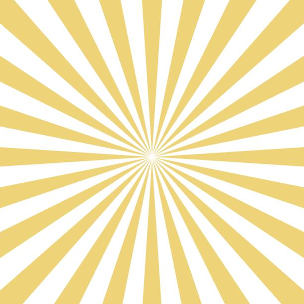 radial yellow sun burst beams on white background. vector . - motion stock illustrations