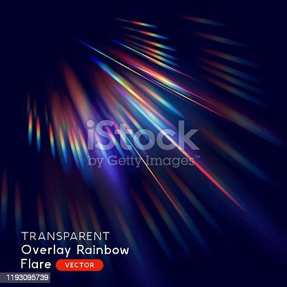 istock Radiant Rainbow Lens Falre Effect 1193095739