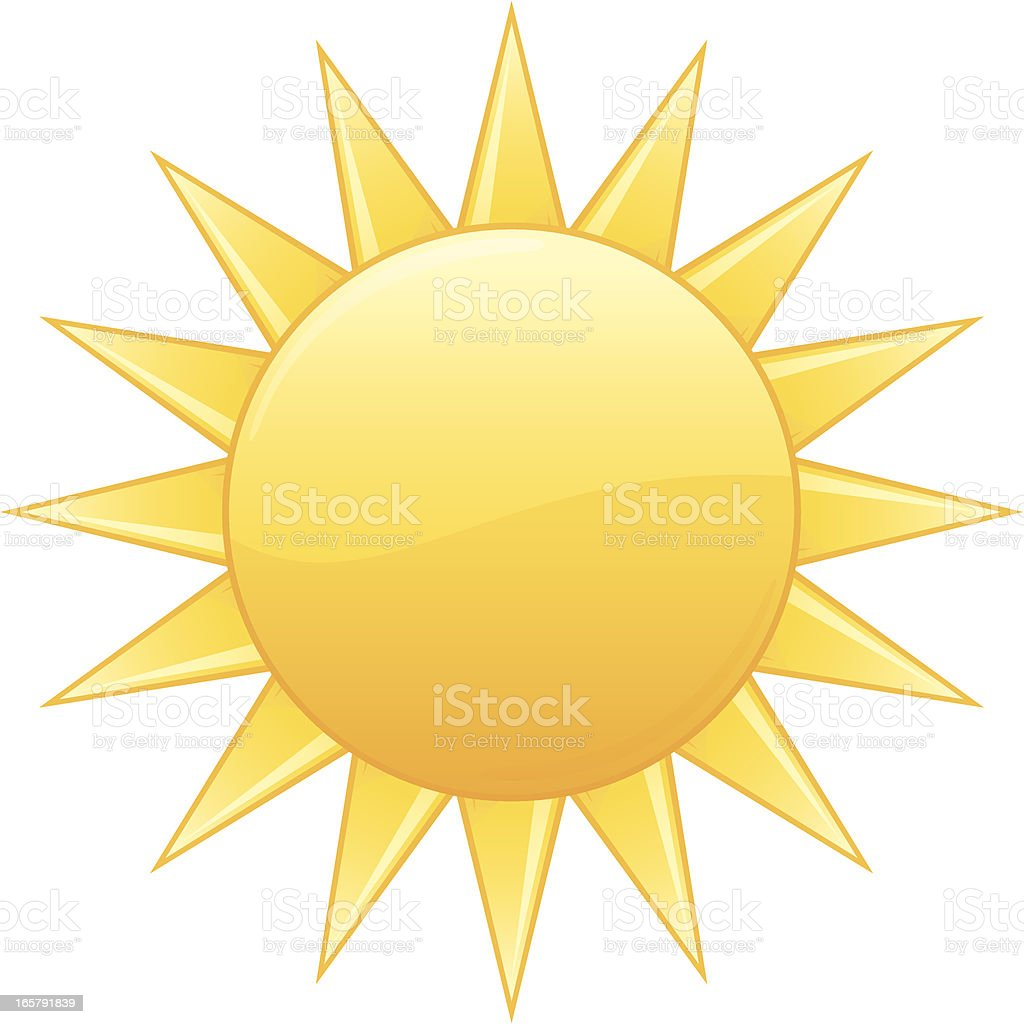 Radiant Yellow Summer Sun Vector Illustration royalty-free radiant yellow summer sun vector illustration stock vector art & more images of heat - temperature