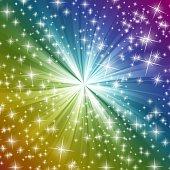 Radiation background  Rainbow Glitter