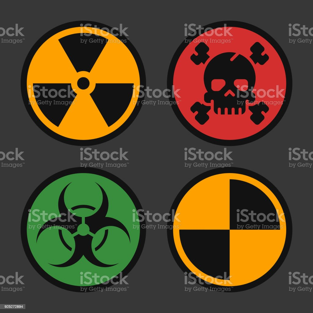 Radiation biohazard death quarantine set signs danger objects stock radiation biohazard death quarantine set signs danger objects royalty free radiation biohazard death biocorpaavc Image collections