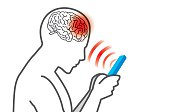 Radiation from mobile phone lead to brain damage.