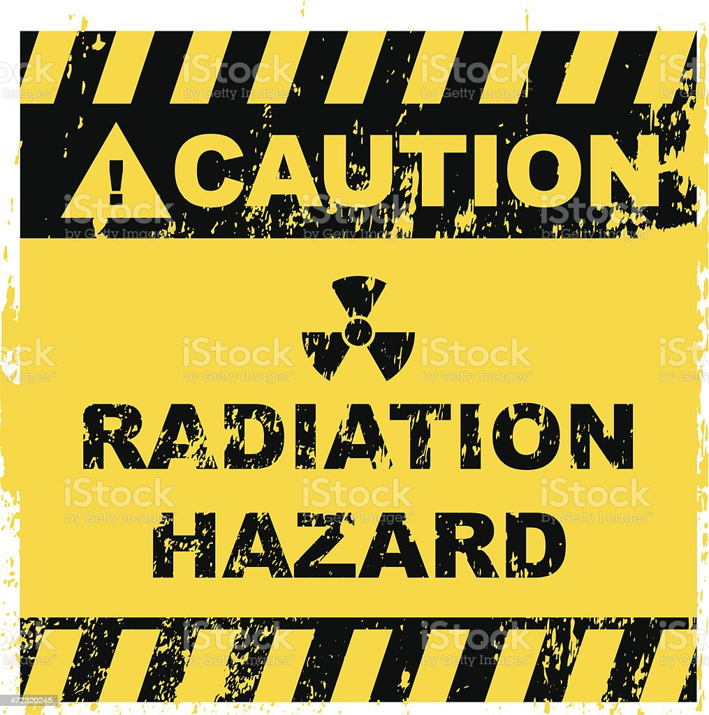 Radiation Hazard Sign royalty-free stock vector art