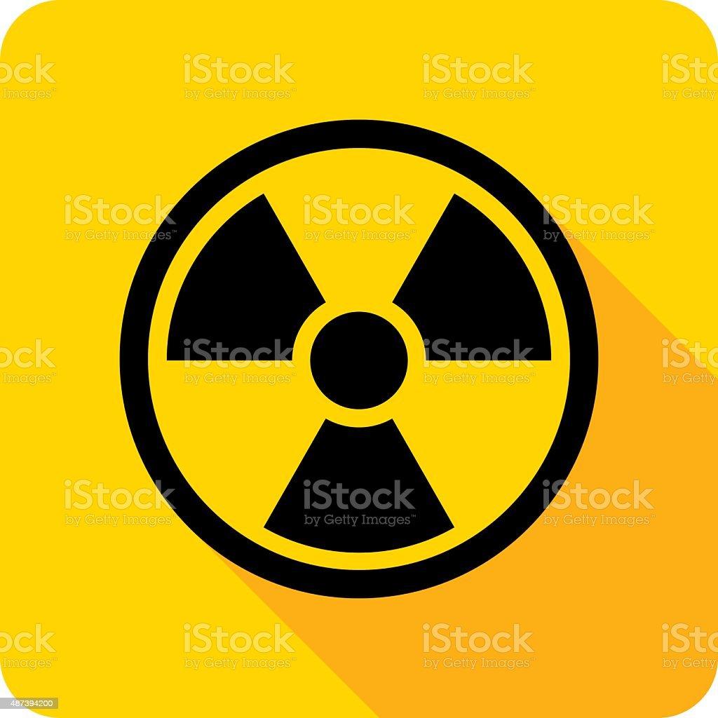 Radiation Icon Silhouette vector art illustration