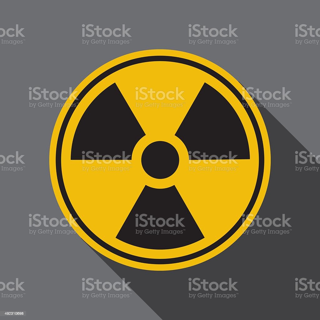 Radiation Icon vector art illustration