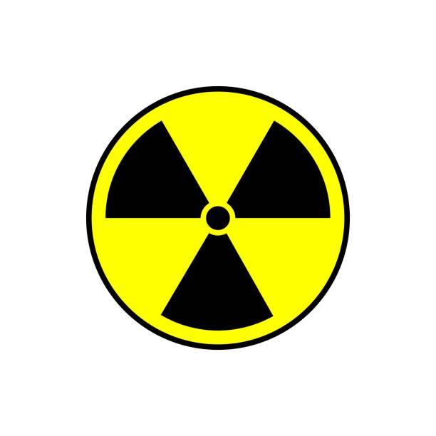 illustrazioni stock, clip art, cartoni animati e icone di tendenza di radiation icon vector. warning radioactive sign danger symbol. - deadly sings